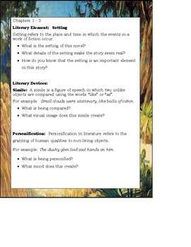 The Yearling by Marjorie Kinnan Rawlings Novel Study Guide Teaching Unit
