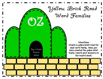 The Yellow Brick Road Word Families
