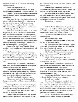 """The Yellow Wallpaper Full-Text with Gilman's """"Why I Wrote the Yellow Wallpaper"""""""
