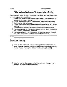 The Yellow Wallpaper Interpretation Project