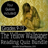 The Yellow Wallpaper Reading Quiz Bundle