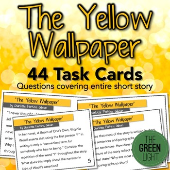 The Yellow Wallpaper Task Cards: Quizzes, Discussion Quest