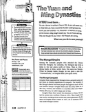 The Yuan & Ming Dynasties Chapter Section