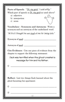 The Zack Files: A Ghost Named Wanda (Dan Greenburg) Novel Study / Comprehension