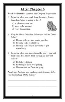 The Zack Files: Great-Grandpa's in the Litter Box (Dan Greenburg) Novel Study