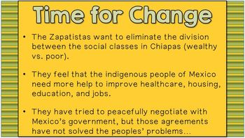 Zapatista Movement in Mexico (SS6H3b)