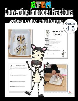 The Zebra Cake Challenge- Converting Improper Fractions to Mixed Numbers