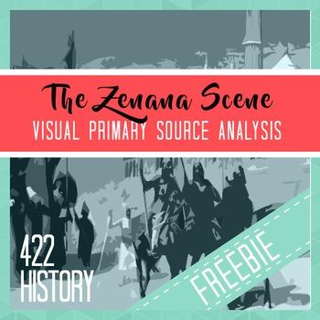 The Zenana Scene, Mughal Dynasty, Visual Primary Source Analysis