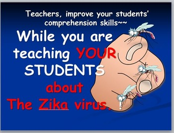 The Zika Virus: Comprehension and Vocabulary Sheets