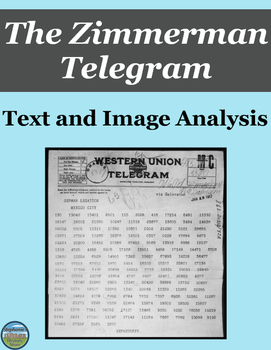 The Zimmerman Note Text and Image Analysis