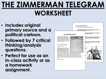 The Zimmerman Telegram - World War I - Global/World/US History
