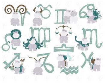 The Zodiac Clipart by Poppydreamz