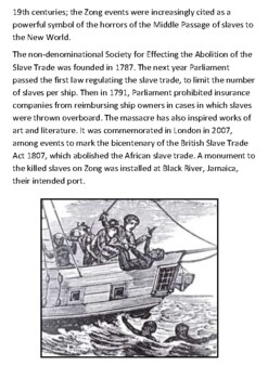 The Zong Massacre 1781 Handout