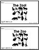"The Zoo! A Sight Word Emergent Reader ""an"""