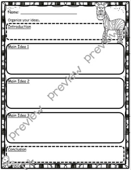 The Zoo ~ Descriptive Writing Activity