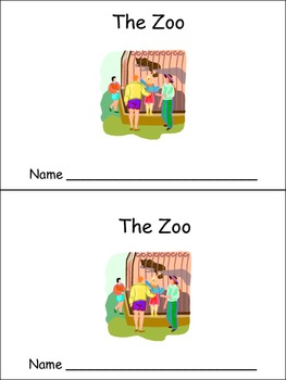 The Zoo Emergent Reader Preschool Kindergarten