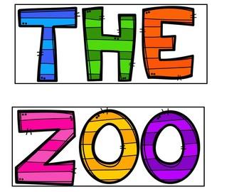 The Zoo (Pocket Chart  Activity)