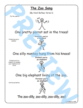 The Zoo Song & Singable Book Project