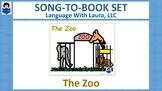 The Zoo - Song-to-Book Set [speech therapy and autism]