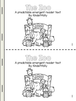 The Zoo Themed Emergent Reader - Predictable and Informative Text