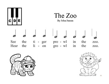 The Zoo easy piano song