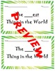 The ___est Things in the World Writing Project