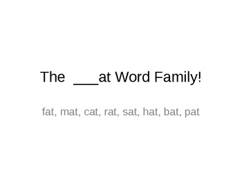 The __at Word Family!