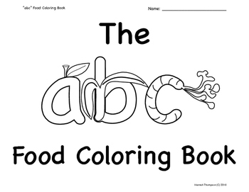 "The ""abc"" Food Coloring Book"