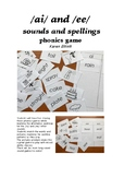 The ai and ee sounds and spellings game