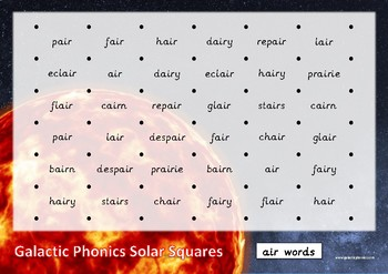 The 'air' Phonics Games Pack