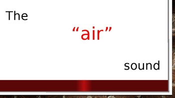 The 'air' sound