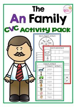 The an family Cvc Word Pack