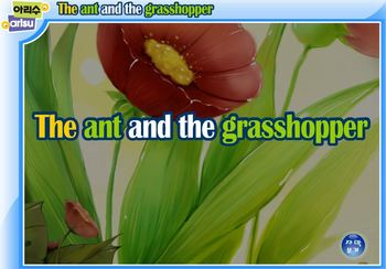 The ant and the grasshopper storybook