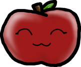 The apple with a cute face