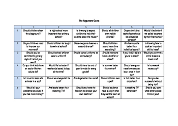 The Argument Game