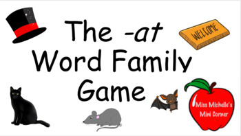 The -at Word Family Game