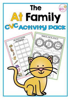 The at family -CVC word family activity pack