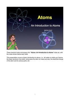 The atom - what are atoms? PDF Notes Handout