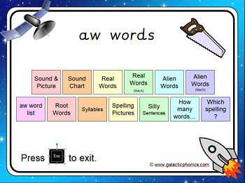 The 'aw' PowerPoint
