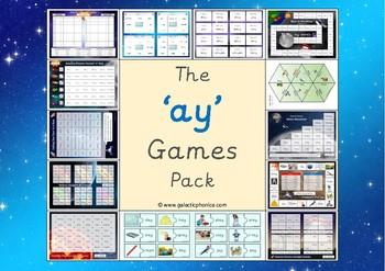 The 'ay' Phonics Games Pack