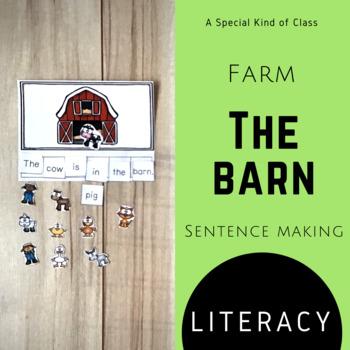 The barn sentence making activity