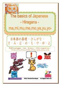 The basics of Japanese -Hiragana- ma,mi,mu,me,mo,ya,yu,yo