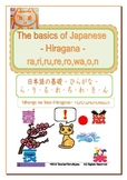 The basics of Japanese -Hiragana- ra,ri,ru,re,ro,wa,o,n