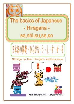 The basics of Japanese -Hiragana- sa,shi,su,se,so