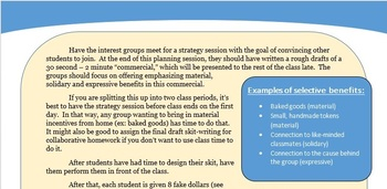 The benefits of Interest Groups - Fun game (American Politics)