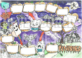 Halloween board game. Printable A3 board game for small groups.