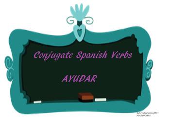 The best Spanish -AR verb conjugation worksheet AYUDAR