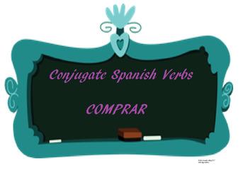 The best Spanish -AR verb conjugation worksheet COMPRAR
