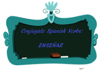 The best Spanish -AR verb conjugation worksheet ENSEÑAR