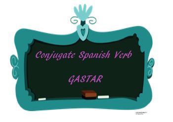 The best Spanish -AR verb conjugation worksheet GASTAR